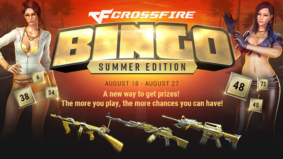 CrossFire Bingo! - August 18th to August 27th - Z8Games